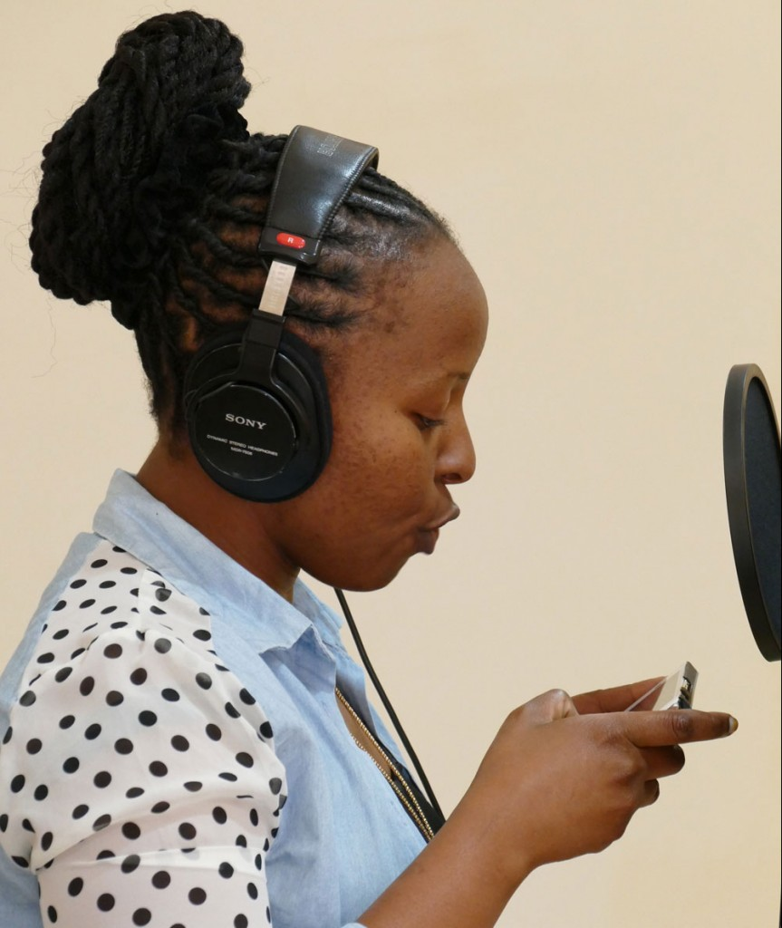 Rose Wakio - Participant, DTM's Radio Baraza Training Programme. Photo courtesy of Lars Loven