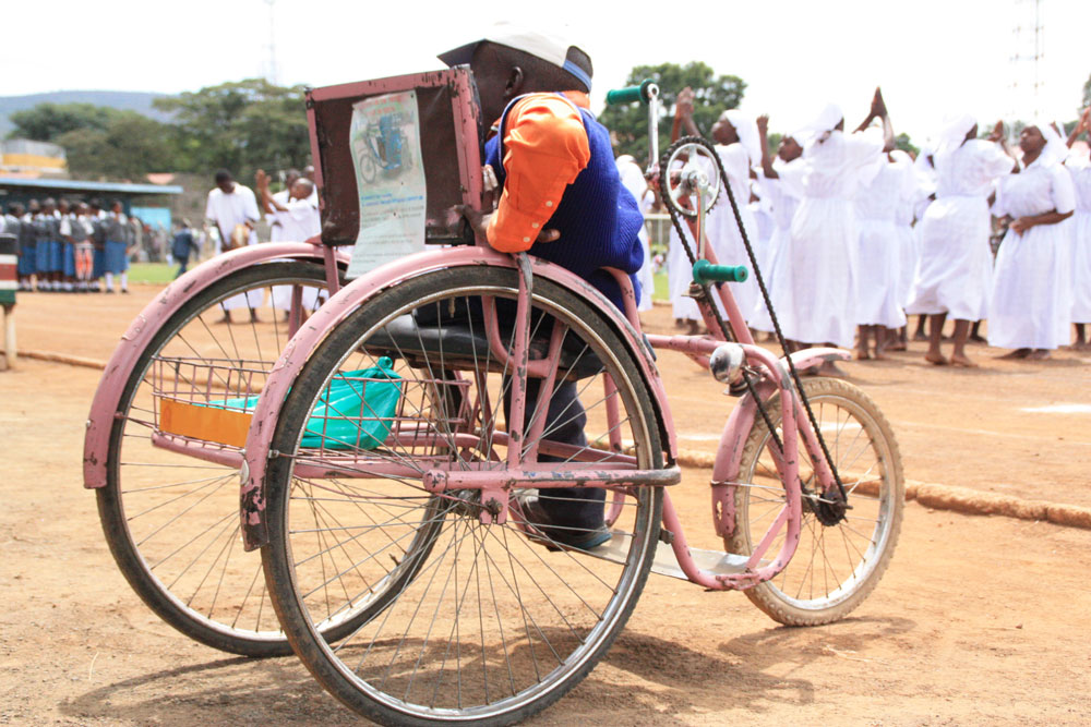 A person with disability in the streets of Nakuru. Persons with disability in the county want media houses to develop programmes that target them directly.